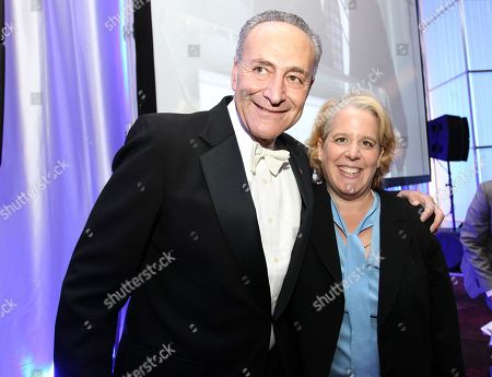 U. S. Senator N.Y. Charles Schumer and Roberta Kaplan pose for a photo at Empire State Pride Agenda 22nd Annual Fall Dinner, on in, New York
