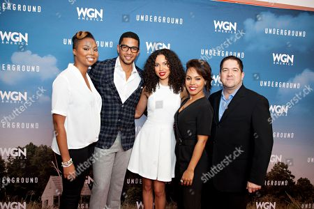 "Misha Green, Alano Miller, Jurnee Smollett-Bell, Amirah Vann, Joe Pokaski, seen at the First-Look Screening and Panel Discussion for WGN America's ""Underground"" at the National Civil Rights Museum, on in Memphis, Tenn"
