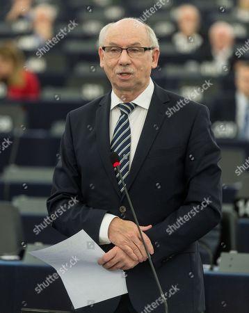 Editorial image of European Parliament Session on Poland, Strasbourg, France - 15 Nov 2017