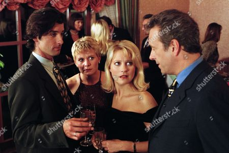 Ep 2298 Tuesday 23rd December 1997  Kathy and Rachel decide to gatecrash the Golf Club party, despite Doug saying he didn't want to her to attend because his wife would be there. They get a real shock when they discover Doug's real wife is Richard - With Rachel Hughes, as played by Glenda McKay ; Kathy Glover, as played by Malandra Burrows ; Doug Hamilton, as played by Jay Benedict; Richard, as played by Richard Trinder.