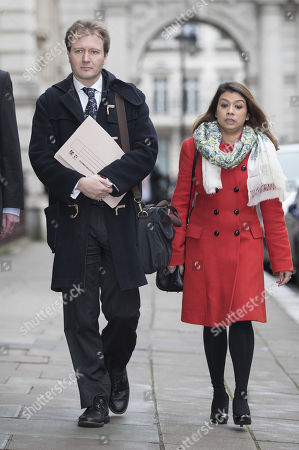 Richard Ratcliffe arrives at the Foreign Office with Tulip Siddiq MP