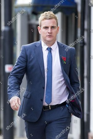 Corpus Christi Catholic school teacher Andrew Kellett arrives for the third day of the Ann Maguire inquest at Wakefield Coroners Court