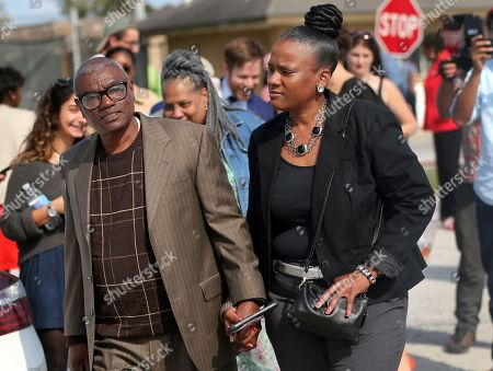 Wilbert Jones, Wajeedah Jones. Wilbert Jones holds hands with his niece Wajeedah Jones as he leaves East Baton Rouge Parish Prison in Baton Rouge, La., . Jones, who has spent nearly 50 years in prison was freed after a judge overturned his conviction in the kidnapping and rape of a nurse. State District Court Judge Richard Anderson threw out Jones' conviction on Oct. 31, saying authorities withheld evidence that could have exonerated Jones decades ago