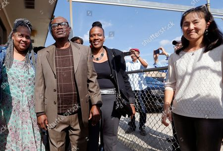 Wilbert Jones, Wilda Jones, Wajeedah Jones, Jee Park. Wilbert Jones, leaves East Baton Rouge Parish Prison flanked by sister-in-law Wilda Jones, left, niece Wajeedah Jones, right, and Innocence Project New Orleans staff attorney Jee Park, far right, in Baton Rouge, La., . Jones, who has spent nearly 50 years in prison was freed after a judge overturned his conviction in the kidnapping and rape of a nurse. State District Court Judge Richard Anderson threw out Jones' conviction on Oct. 31, saying authorities withheld evidence that could have exonerated Jones decades ago