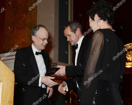 Stock Image of Richard Edgecombe, Alexander Armstrong and Helen McCrory