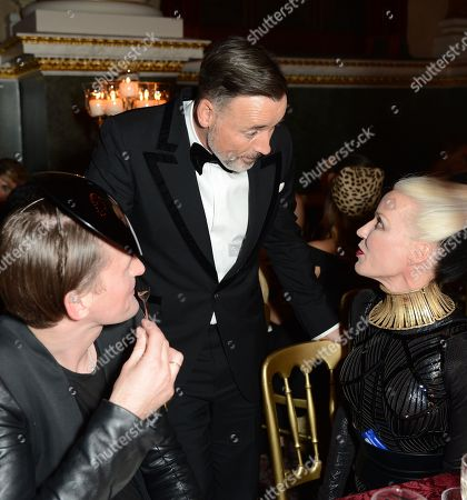 Gareth Pugh, David Furnish and Daphne Guinness