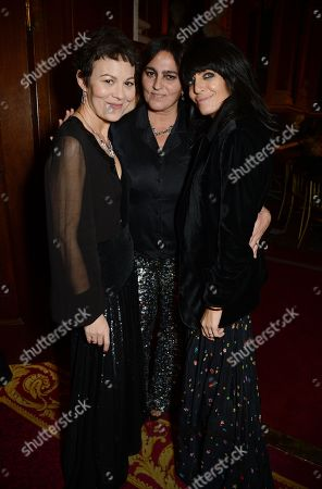 Stock Photo of Helen McCrory, Solange Azagury-Partridge and Claudia Winkleman