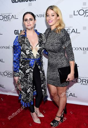 Corinne Fisher, Krystyna Hutchinson. Corinne Fisher, left, and Krystyna Hutchinson attend the 2017 Glamour Women of the Year Awards at Kings Theatre, in New York