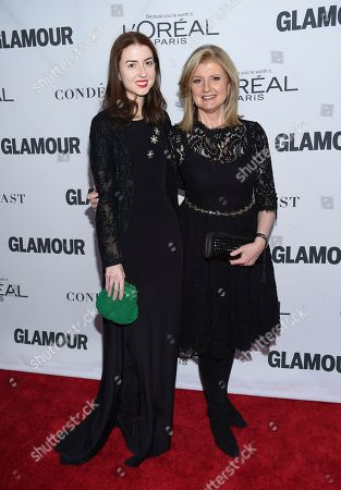 Stock Photo of Isabella Huffington, Arianna Huffington. Arianna Huffington, right, and daughter Isabella Huffington attend the 2017 Glamour Women of the Year Awards at Kings Theatre, in New York