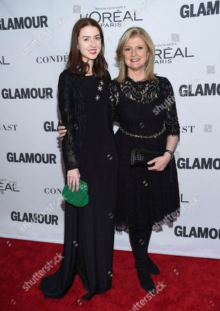 Isabella Huffington, Arianna Huffington. Arianna Huffington, right, and daughter Isabella Huffington attend the 2017 Glamour Women of the Year Awards at Kings Theatre, in New York