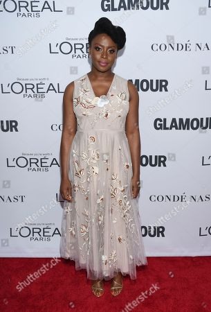 Chimamanda Ngozi Adichie attends the 2017 Glamour Women of the Year Awards at Kings Theatre, in New York