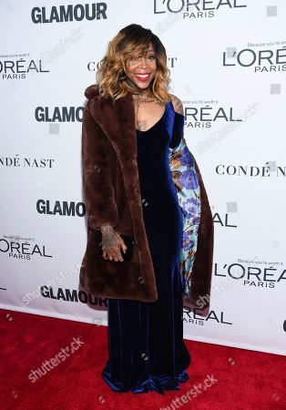 Stock Image of Cappie Pondexter attends the 2017 Glamour Women of the Year Awards at Kings Theatre, in New York