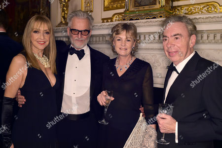 Stock Picture of Sharon Maughan, Trevor Eve Madeleine Gurdon, Baroness Lloyd-Webber and Sir Andrew Lloyd Webber, Sir Andrew Lloyd Webber