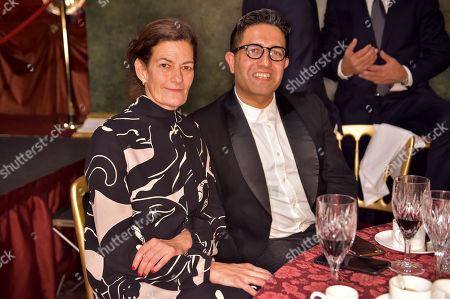 Venetia Scott and Osman Yousefzada