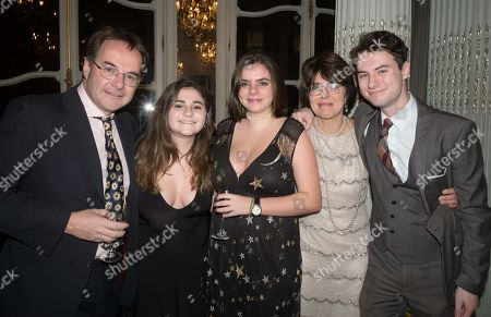 Stock Image of Quentin Letts, Lois Rathbone and Family