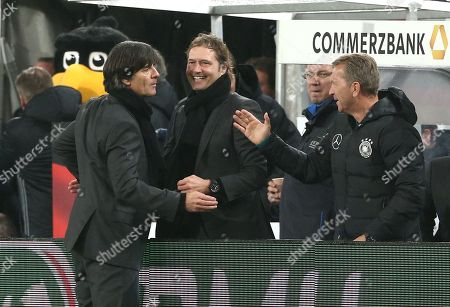 Trainer Joachim Loew, Marcus Sorg, goalkeepertrainer Andreas Koepke  