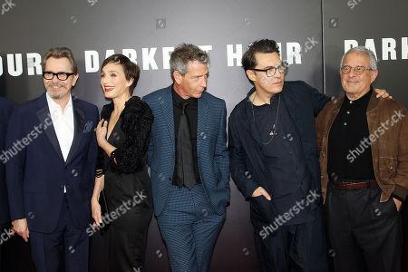 Gary Oldman, Kristin Scott Thomas, Ben Mendelsohn, Joe Wright (Director), Ron Meyer (Vice Pres., Chairman NBC Universal)
