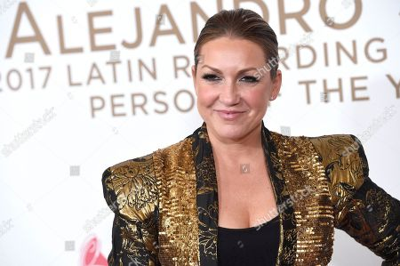 Nina Pastori arrives at the Latin Recording Academy Person of the Year tribute honoring Alejandro Sanz at the Mandalay Bay Convention Center, in Las Vegas