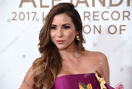 Alexandra Olavarria arrives at the Latin Recording Academy Person of the Year tribute honoring Alejandro Sanz at the Mandalay Bay Convention Center, in Las Vegas