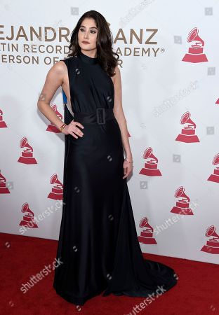 Mariam Habach arrives at the Latin Recording Academy Person of the Year tribute honoring Alejandro Sanz at the Mandalay Bay Convention Center, in Las Vegas