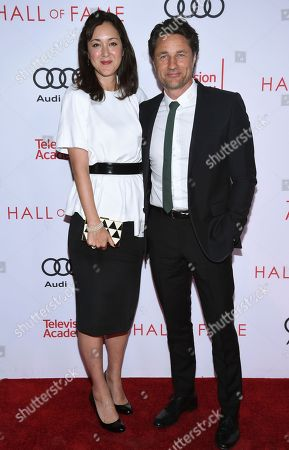 Martin Henderson, right, and guest attend the 24th Television Academy Hall of Fame on at the Television Academy's Saban Media Center in North Hollywood, Calif