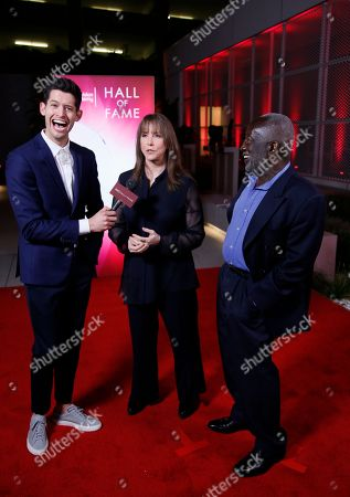 Hunter March, Laraine Newman, Garrett Morris. Hunter March, from left, interviews Laraine Newman and Garrett Morris at the 24th Television Academy Hall of Fame on at the Television Academy's Saban Media Center in North Hollywood, Calif
