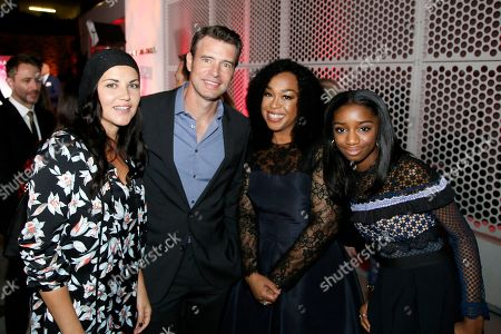 Marika Dominczyk, Scott Foley, Shonda Rhimes, Harper Rhimes. Marika Dominczyk, from left, Scott Foley, Shonda Rhimes, and Harper Rhimes attend the 24th Television Academy Hall of Fame on at the Television Academy's Saban Media Center in North Hollywood, Calif