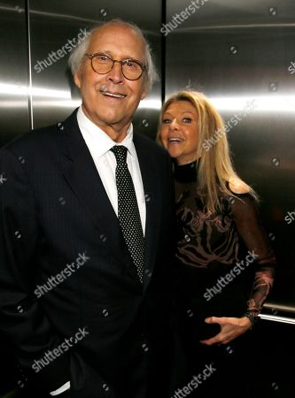 Stock Photo of Chevy Chase, Jayni Chase. Chevy Chase, left, and Jayni Chase attend the 24th Television Academy Hall of Fame on at the Television Academy's Saban Media Center in North Hollywood, Calif
