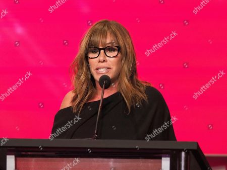 Stock Photo of Melissa Rivers accepts the induction on behalf of her mother Joan Rivers at the 24th Television Academy Hall of Fame on at the Television Academy's Saban Media Center in North Hollywood, Calif