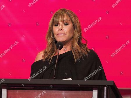 Melissa Rivers accepts the induction on behalf of her mother Joan Rivers at the 24th Television Academy Hall of Fame on at the Television Academy's Saban Media Center in North Hollywood, Calif
