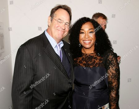 Dan Aykroyd, Shonda Rhimes. Dan Aykroyd, left, and Shonda Rhimes attend the 24th Television Academy Hall of Fame on at the Television Academy's Saban Media Center in North Hollywood, Calif