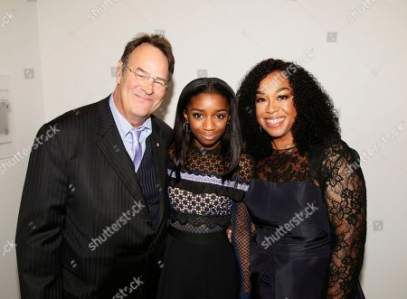 Dan Aykroyd, Harper Rhimes, Shonda Rhimes. Dan Aykroyd, from left, Harper Rhimes, and Shonda Rhimes attend the 24th Television Academy Hall of Fame on at the Television Academy's Saban Media Center in North Hollywood, Calif