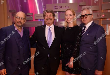 Richard Schiff, John Wells, Janel Moloney, Bradley Whitford. Richard Schiff, from left, John Wells, Janel Moloney and Bradley Whitford attend the 24th Television Academy Hall of Fame on at the Television Academy's Saban Media Center in North Hollywood, Calif