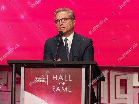 Rick Rosen, head of the television department at WME and founding member of the Endeavor Agency, speaks at the 24th Television Academy Hall of Fame on at the Television Academy's Saban Media Center in North Hollywood, Calif