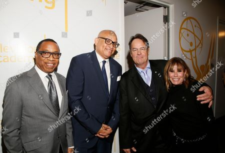 Hayma Washington, Larry Wilmore, Dan Aykroyd, Laraine Newman. Hayma Washington, Chairman and CEO of the Television Academy, from left, Larry Wilmore, Dan Aykroyd, and Laraine Newman attend the 24th Television Academy Hall of Fame on at the Television Academy's Saban Media Center in North Hollywood, Calif