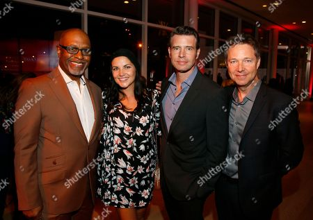 James Pickens Jr., Marika Dominczyk, Scott Foley, George Newbern. James Pickens Jr, from left, Marika Dominczyk, Scott Foley, and George Newbern attend the 24th Television Academy Hall of Fame on at the Television Academy's Saban Media Center in North Hollywood, Calif
