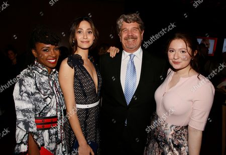Shanola Hampton, Emmy Rossum, John Wells, Emma Kenney. Shanola Hampton, from left, Emmy Rossum, John Wells and Emma Kenney attend the 24th Television Academy Hall of Fame on at the Television Academy's Saban Media Center in North Hollywood, Calif
