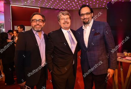 Michael Hissrich, John Wells, Jimmy Smits. Michael Hissrich, from left, John Wells and Jimmy Smits attend the 24th Television Academy Hall of Fame on at the Television Academy's Saban Media Center in North Hollywood, Calif