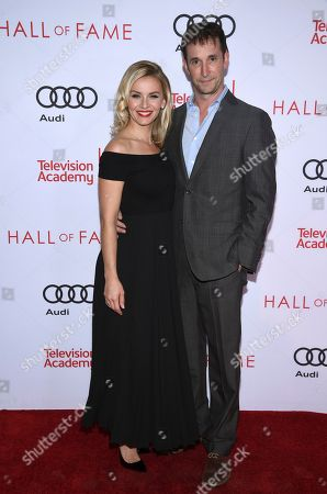 Sara Wells, Noah Wyle. Sara Wells, left, and Noah Wyle attend the 24th Television Academy Hall of Fame on at the Television Academy's Saban Media Center in North Hollywood, Calif