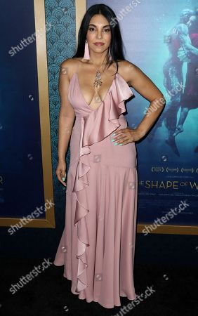 """Stock Image of Matilda Del Toro arrives at the LA Premiere of """"The Shape of Water"""" at the Academy of Motion Pictures, Arts and Sciences, in Beverly Hills, Calif"""
