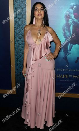 """Matilda Del Toro arrives at the LA Premiere of """"The Shape of Water"""" at the Academy of Motion Pictures, Arts and Sciences, in Beverly Hills, Calif"""