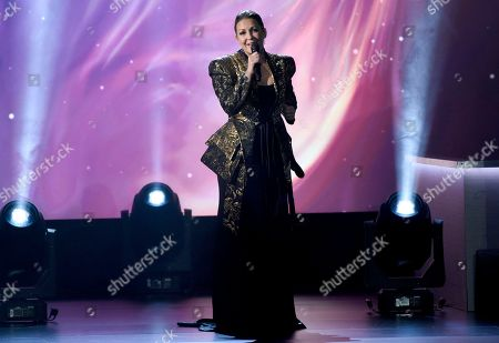 """Nina Pastori performs """"La Fuerza Del Corazon"""" at the Latin Recording Academy Person of the Year tribute honoring Alejandro Sanz at the Mandalay Bay Convention Center, in Las Vegas"""