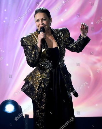 """Nina Pastori performs """"La Fuerza Del Corazon""""at the Latin Recording Academy Person of the Year tribute honoring Alejandro Sanz at the Mandalay Bay Convention Center, in Las Vegas"""