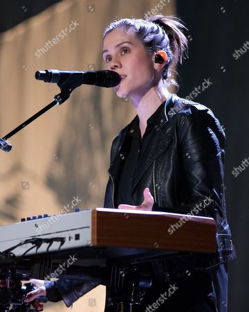 Sara Quin of indie pop band Tegan and Sara performs on The Con X: Tour at the Paramount Theater
