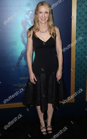 """Screenwriter Vanessa Taylor arrives at the LA Premiere of """"The Shape of Water"""" at the Academy of Motion Picture Arts and Sciences, in Beverly Hills, Calif"""