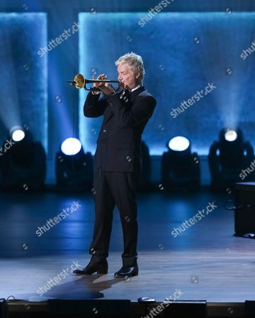Trumpet player Chris Botti performs onstage during the 2017 Gershwin Prize Tribute Concert honoring Tony Bennett at the DAR Constitution Hall, in Washington