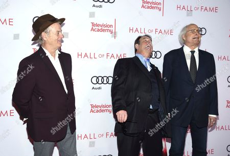 Bill Murray, Dan Aykroyd, Chevy Chase. Bill Murray, from left, Dan Aykroyd and Chevy Chase attend the 24th Television Academy Hall of Fame on at the Television Academy's Saban Media Center in North Hollywood, Calif