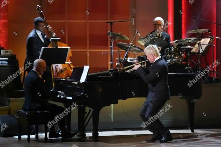 Trumpeter Chris Botti performs on stage during the 2017 Gershwin Prize Tribute Concert honoring Tony Bennett at the DAR Constitution Hall on in Washington