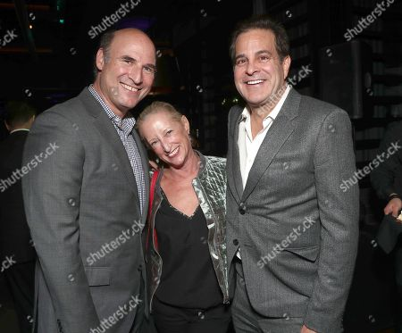 Stock Photo of Fox Searchlight EVP and co-head of Production Matthew Greenfield, Claudia Lewis and Fox Head of Post Production Ted Gagliano