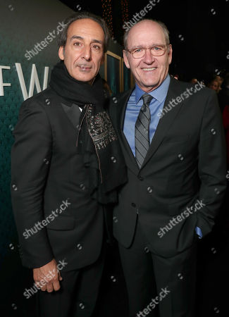 Composer Alexandre Desalt and Richard Jenkins